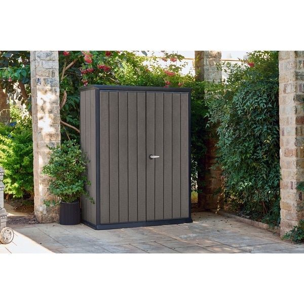 Keter High Store Dark Grey Resin Wood Look and Feel Outdoor Garden Storage Shed | Overstock.com Shopping - The Best Deals on Tool Sheds