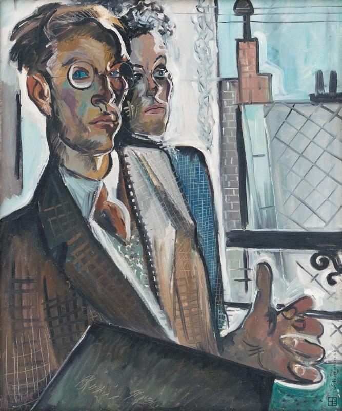 Imrich Weiner-Kráľ: Dvojportrét:1930