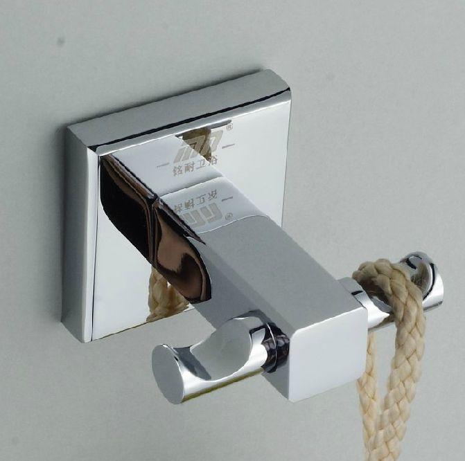 Хром полированный ванная комната одежда и шляпу вешалка для полотенец настенное крепление полотенце крюк