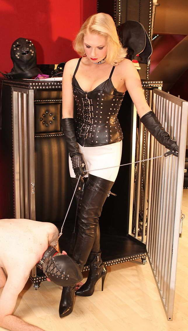 Mistresses humiliate their sissy maid house servant 10