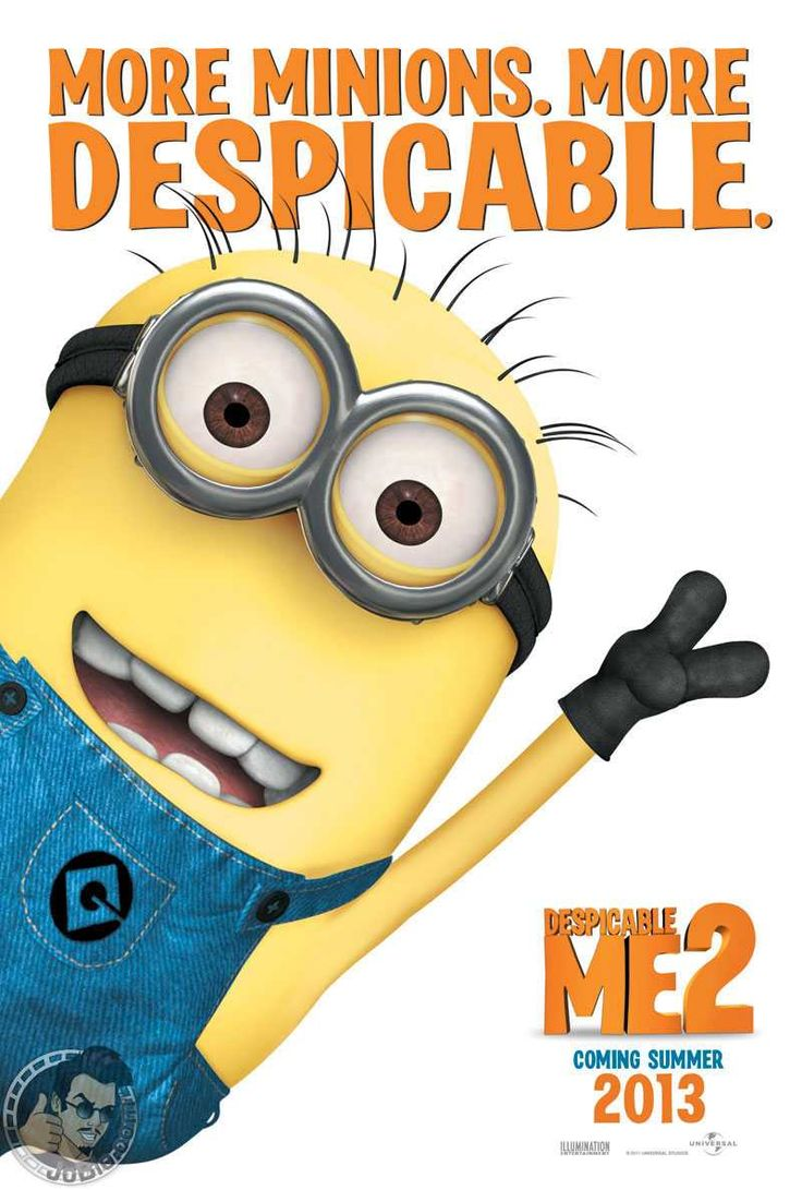 Despicable Me 2 - Gru, his kids, and his minions
