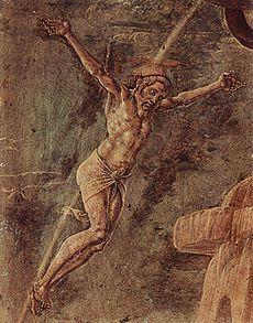 Cosme Tura - Cristo crocifisso è un dipinto tempera su tavola (22x17 cm) di Cosmè Tura, databile al 1474 circa e conservato nella Pinacoteca di Brera a Milano.