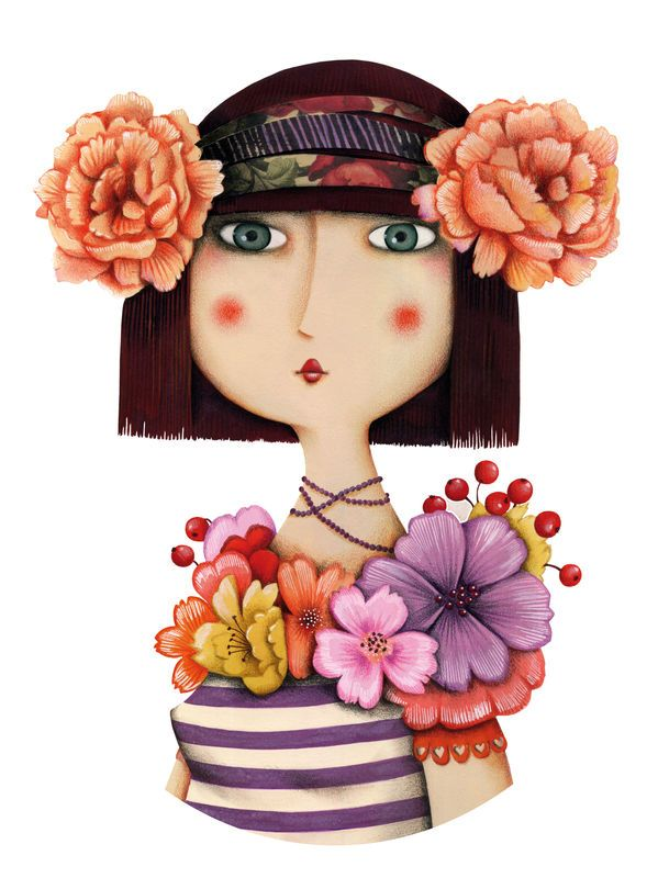 Marie Desbons, waiting for spring to come! So I can put flowers in my hair