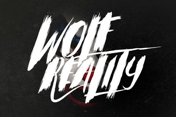 Wolf Reality Typeface by Maulana Creative on Creative Market