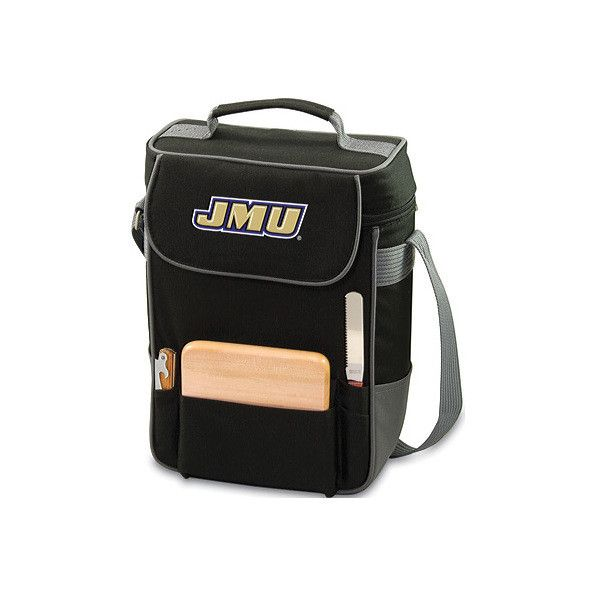 Picnic Time Duet James Madison University Dukes Embroidered (77 CAD) ❤ liked on Polyvore featuring home, kitchen & dining, food storage containers, picnic cooler, picnic time bag, picnic cooler tote, picnic time cooler tote and picnic time cooler