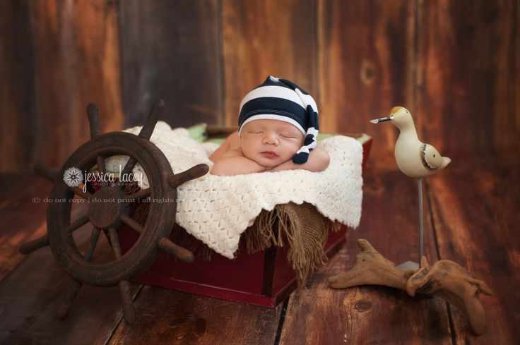 Jessica Lacey Photography » Nautical Newborn Theme Photography