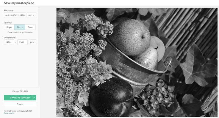 Fekete-fehér kép PicMonkey online képszerkesztőben