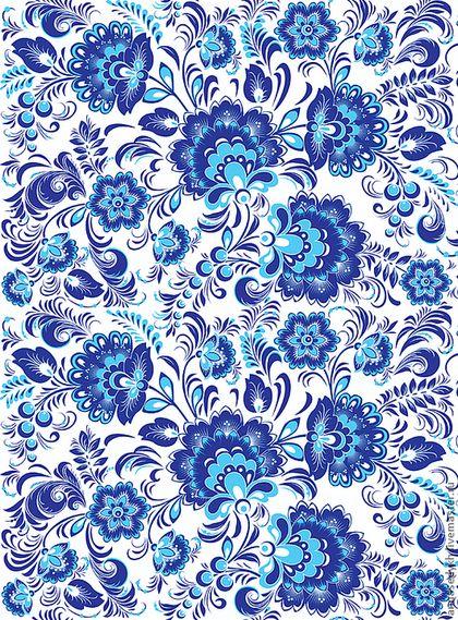 Купить или заказать Ткань Гжель №1 в интернет-магазине на Ярмарке Мастеров. Уже знакомый хохломской узор выполнен в сине-белом варианте. Уточняйте вариант расцветки: гжель яркая, гжель сине-белая, гжель синяя. Принимаются заказы на искусственные ткани: габардин, сатин, атлас, шармус, адверт, таффета, оксфорд и многие другие. Возможна печать на ткани заказчика. Цены: от 800 р./кв.м. Цена указана за 1кв.м. ткани с печатью. Максимальная ширина печати - 146 см.