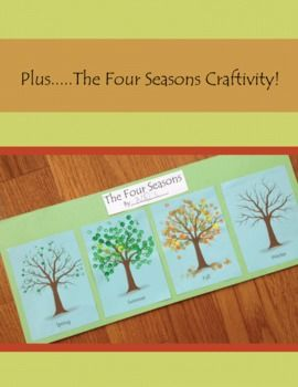 Four seasons finger painting activity