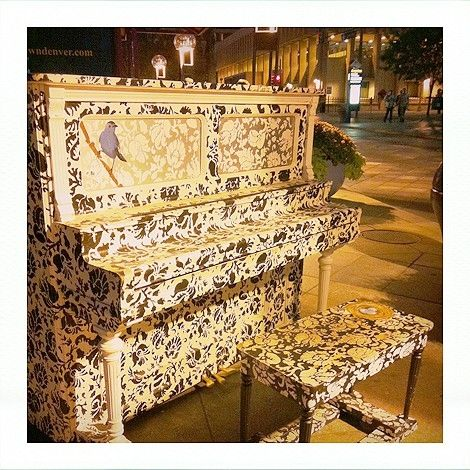 painted piano by madelinem