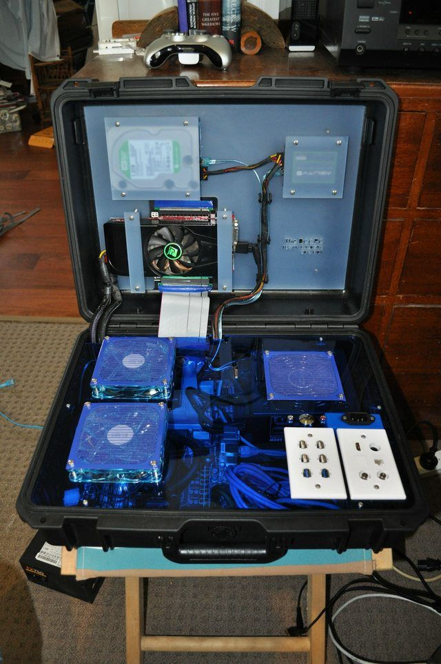 My custom briefcase PC build. Pelican case mod in 2019 ...