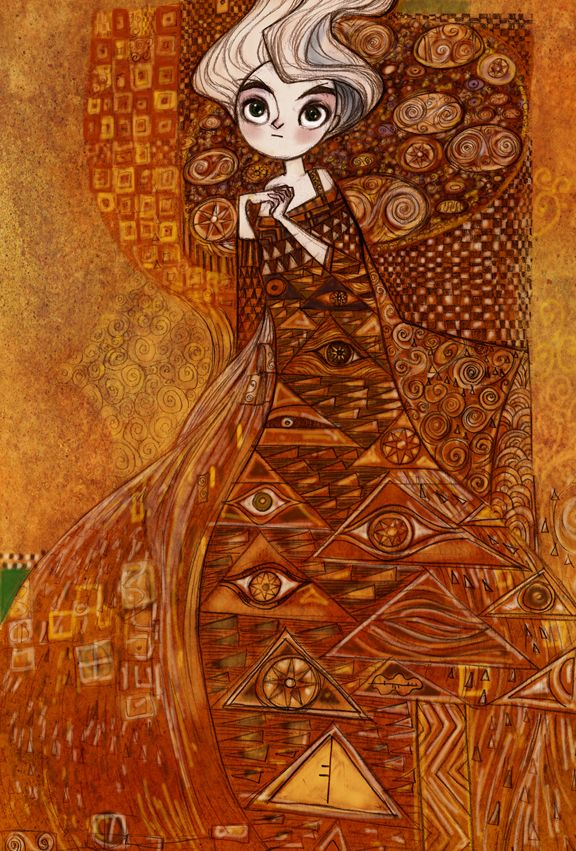 The Secret  of Kells with a hint of Klimt