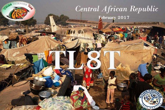 TL8T. Radio Amateurs members of Italian DX Pedition Team will be active from Cental African Republic in February 2017 as TL8T.
