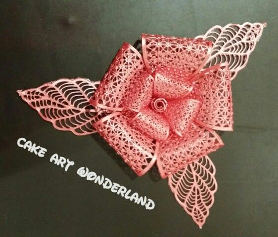 Creating new flowers..... made from Edible Lace. What do you think?