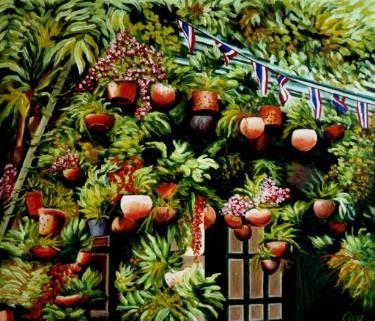 "Saatchi Art Artist Dan Civa; Painting, ""Private house in China Town, Bangkok, Thailand"" #art"