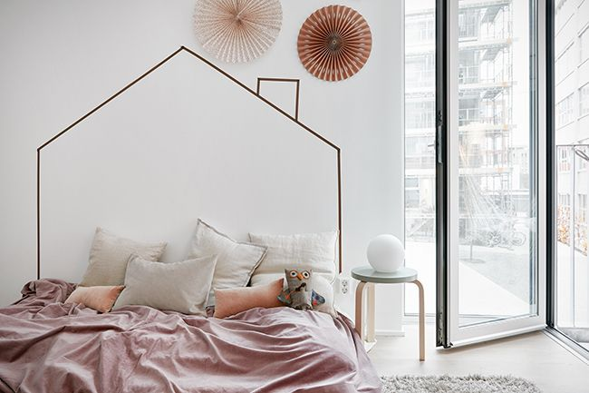 Les 25 meilleures id es concernant t tes de lit pour enfants sur pinterest - Tete de lit masking tape ...