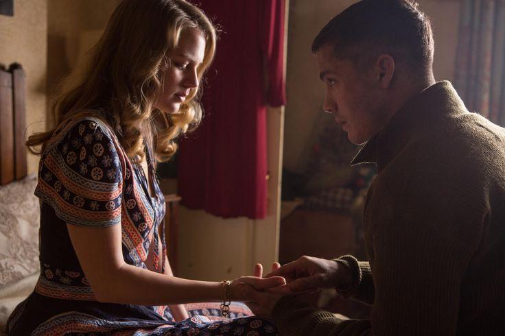 Still of Logan Lerman and Alicia von Rittberg in Fury (2014) http://www.movpins.com/dHQyNzEzMTgw/fury-(2014)/still-9159936