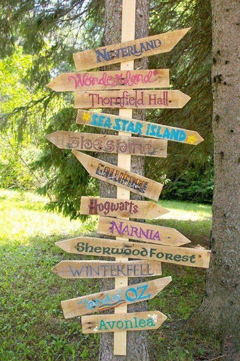 Die 25 besten ideen zu wegweiser auf pinterest for Gartendeko schilder