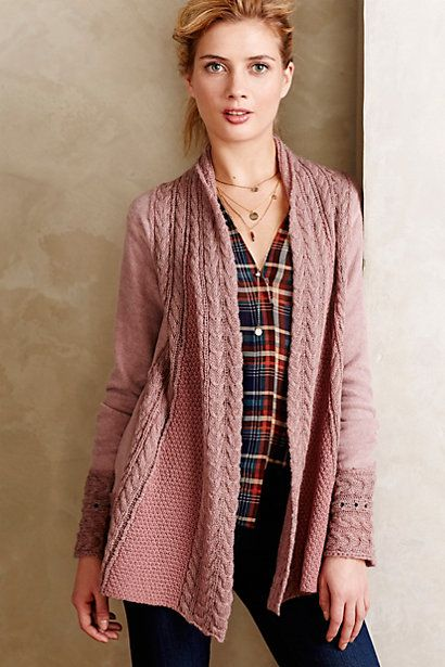 Regan Mix Stitch Cardigan anthropologie