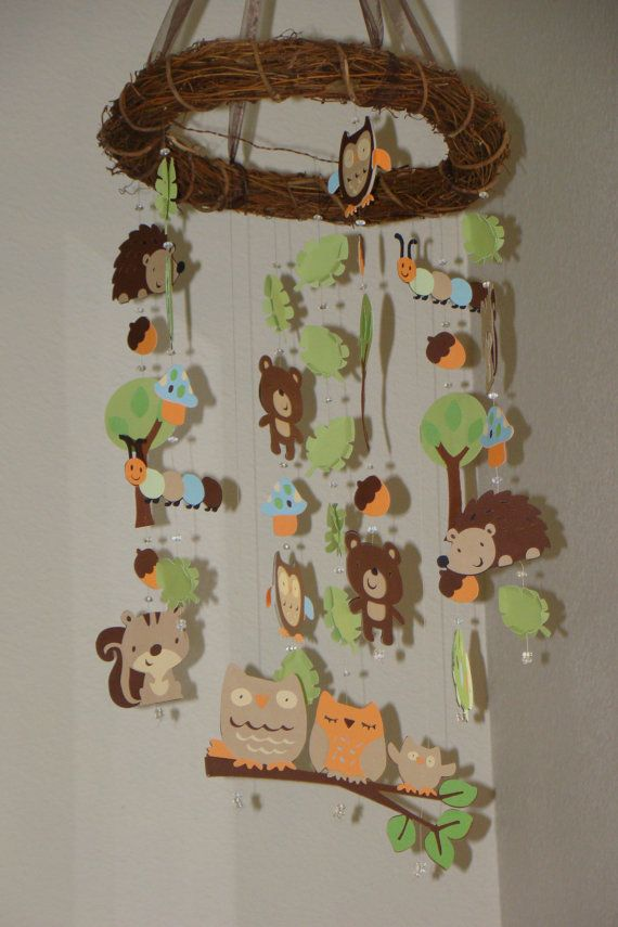 Baby Mobile Woodland Creature Forest Animal Baby Mobile