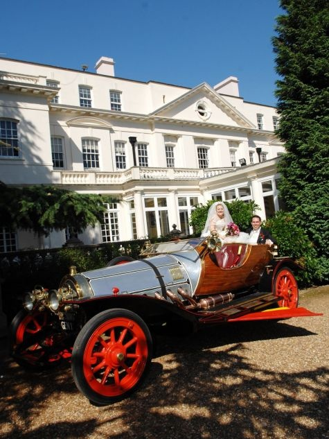 Chitty Chitty Bang Bang! Heatherden Hall at Pinewood Studios in Buckinghamshire is the wedding venue.