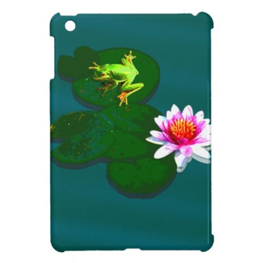 Frog On A Lily Pad iPad Case iPad Mini Case - This iPad case features a frog on a lily pad sitting on still pond waters. Available for your iPad, iPad mini and iPad air. http://www.zazzle.com.au/frog_on_a_lily_pad_ipad_case_ipad_mini_case-256145252378013439?rf=238523064604734277