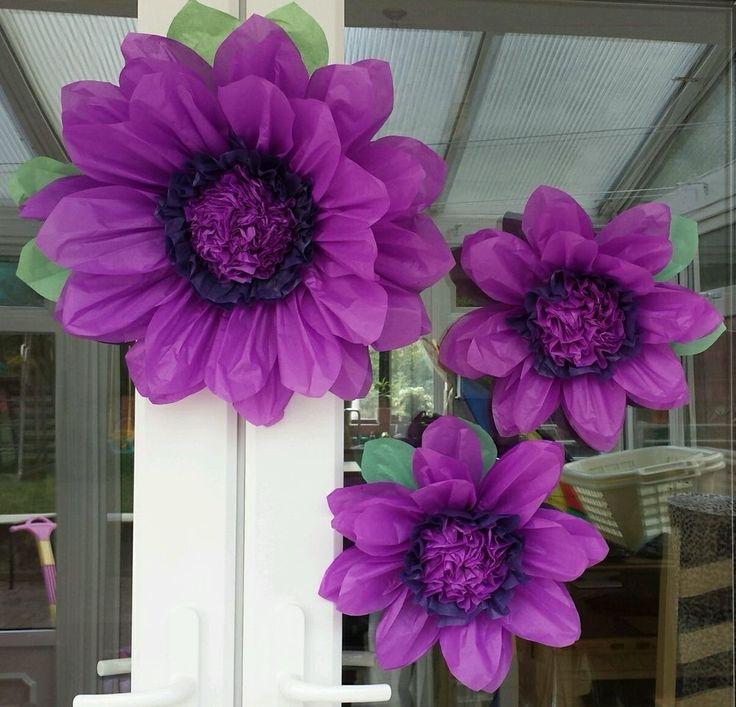 42 best hand made tissue paper flowers uk images on pinterest set of purple tissue paper flowers pom pom weddingbirthdaycenterpiece uk seller junglespirit Choice Image