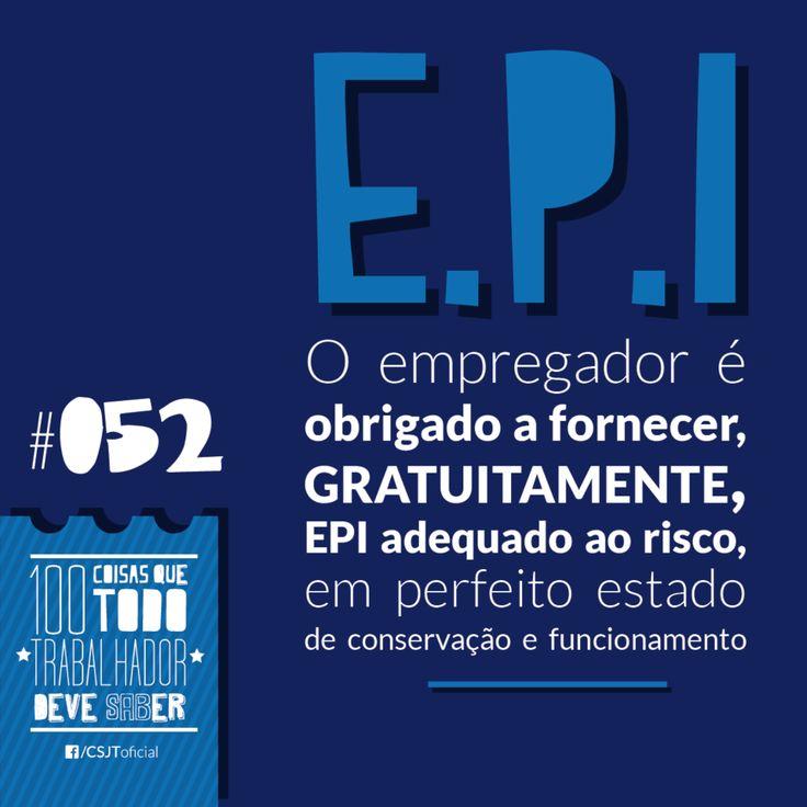 Fonte: Conselho Superior da Justiça do Trabalho (CSJT) #EPI #Direito #Gratuito #Riscos