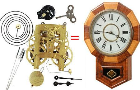 Antique clock repair