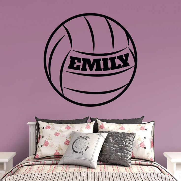 Volleyball Personalized Name Fathead Wall Decal
