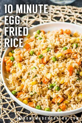 10 Minute Simple Egg Fried Rice! Need a new go-to side dish for busy weeknights?…