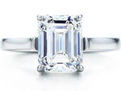Tiffany emerald cut diamond engagement ring....*sigh