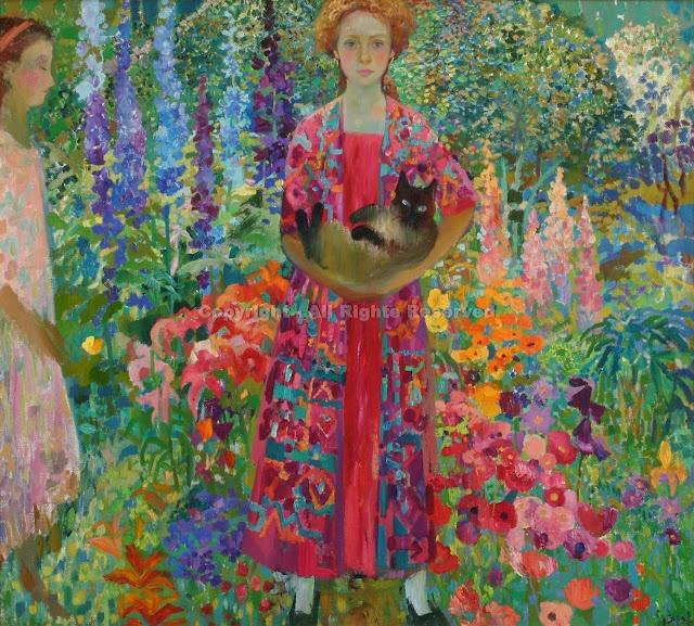 ⊰ Posing with Posies ⊱ paintings of women and flowers - Olga Suvorova