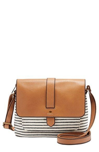 Fossil 'Small Kinley' Cotton & Leather Crossbody Bag available at #Nordstrom