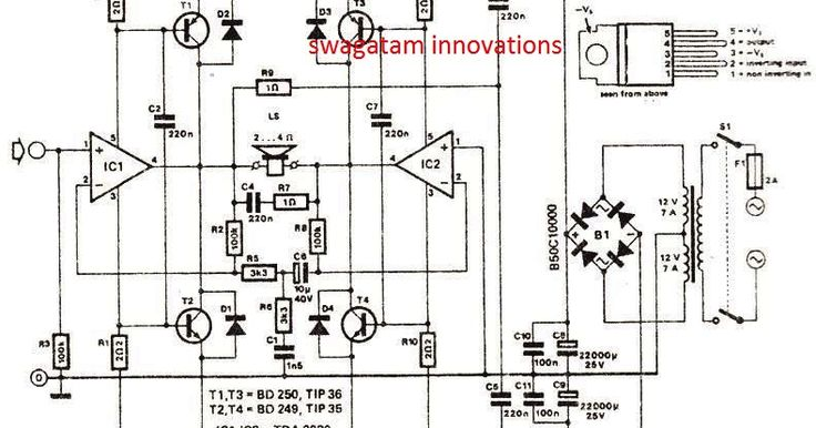 31 best amp guitar tda2030  4558 diagram images on