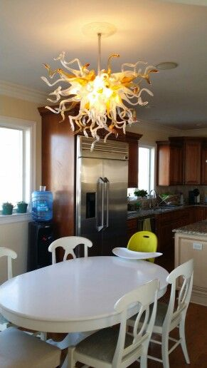 Primoglass Custom Blown Glass Chandeliers Made In USA Contact Us For More