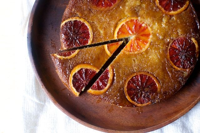 blood orange almond and ricotta cake: