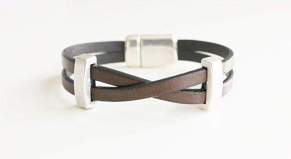 BRACELET HOMME en CUIR. Bracelet pour hommes par kalmabisuteria