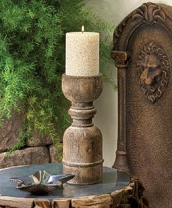 Old world craftsmanship and style is always in vogue, and this wooden candleholder is proof. Its turned detail and unstained finish let the natural personality of the wood take center stage. http://www.wholesalemart.com/Wholesale-Candle-Holders-s/85.htm
