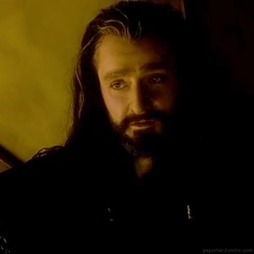 Thorin Oakenshield - DAT look (click for gif) - excuse me while i melt :)