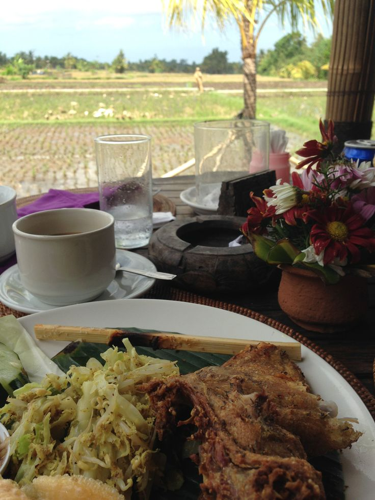 Duck is the speciality in Ubud Bali, you can see the ducks from the table!