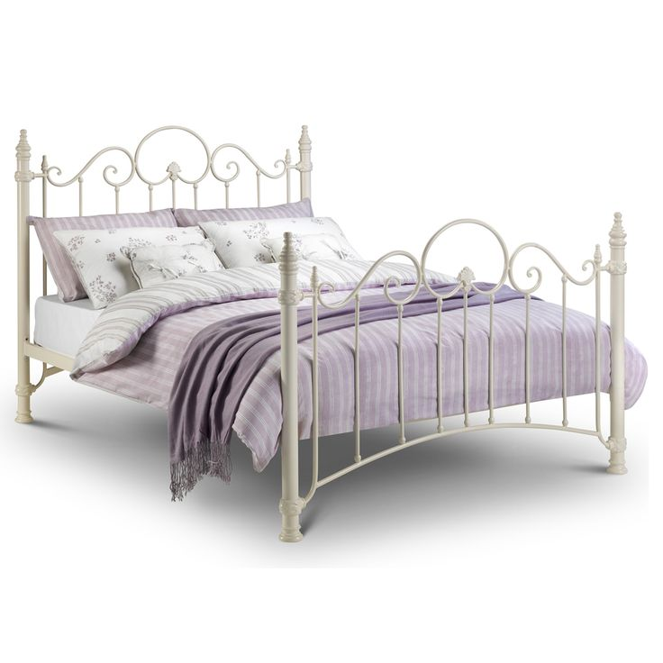 florence single metal bed frame white