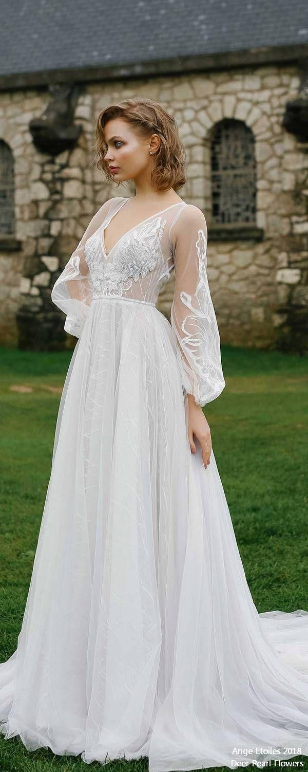 LUNA boho long sleeves wedding dress ❤️ bridaldress #weddinggowns #weddingdresses http://www.deerpearlflowers.com/ange-etoiles-2018-wedding-dresses/