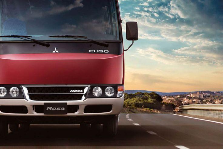 Bus Rosa | FUSO | Los 32 pasajeros y el conductor disfrutarán por igual del confort interior del Rosa, amplio y silencioso.