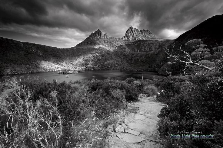Cradle Mountain Storm Feb 2014 BW by Kevin Morgan on 500px