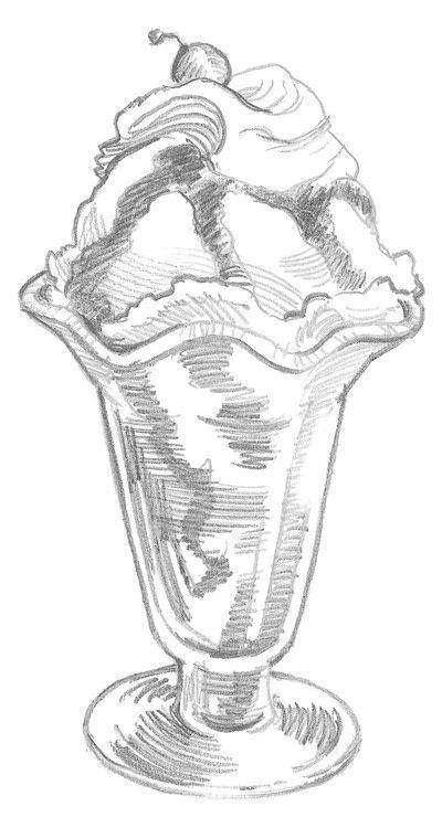 Wie man eine Zeichnung macht. Eisbecher – Schritt 5   – daycare summer calendar