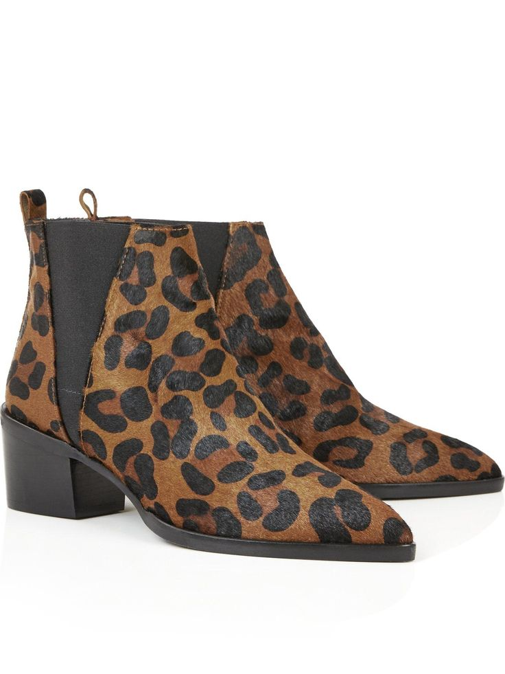WHISTLES Belmont Pointed Leopard Print Chelsea Boots - Leopard | veryexclusive.co.uk