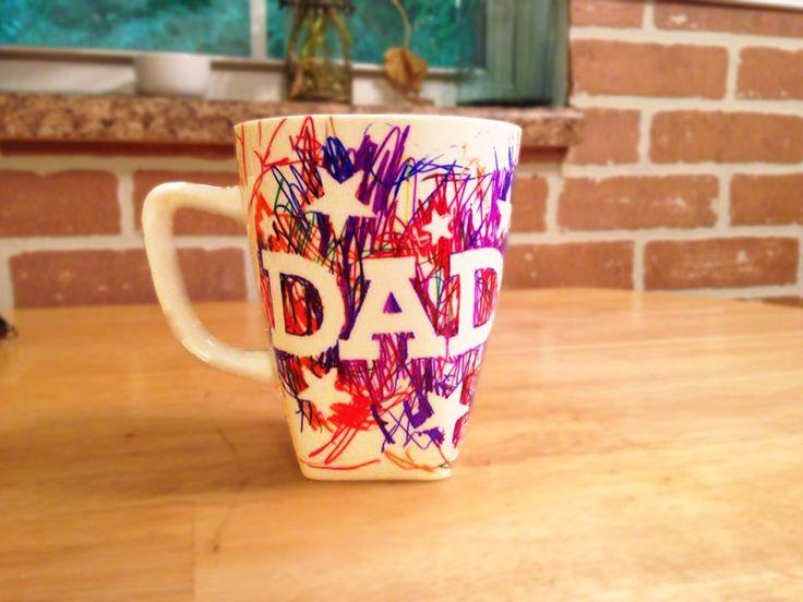 Easy Father S Day Sharpie Mug Kids Craft Birthdays Dr