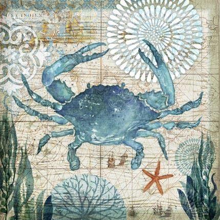 Dockside Blue Crab by Geoff Allen | Ruth Levison Design
