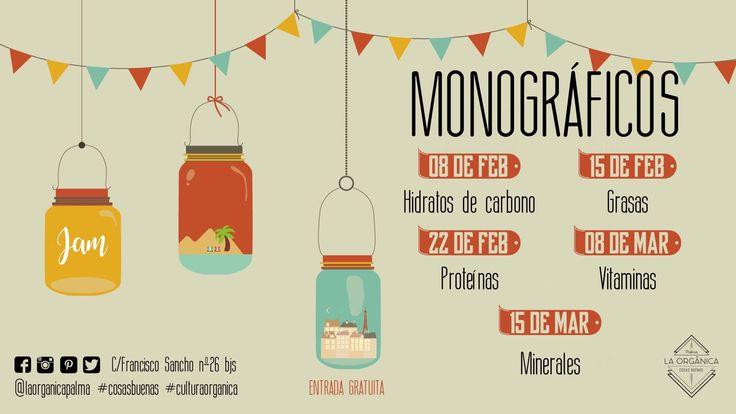 💁🏼🙋🏻Nuestros próximos Monográficos! No te los pierdas!😊#laorganicapalma #culturaorganica #cosasbuenas #organic  #oraganicshop #loveorganic #healthyfood #healthylife #foodie #mallorca